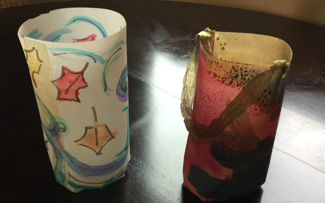 Easy, beautiful watercolor lanterns for fall